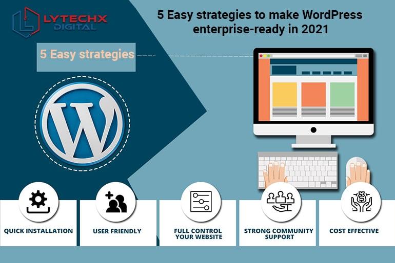 5 Easy strategies to make WordPress enterprise-ready in 2021